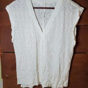 Gxf embroidered top white small